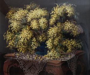 Camillo D'Adda – La mimosa con vaso blu