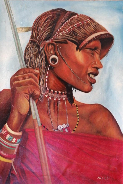 Mchopa – Masai mezzobusto laterale