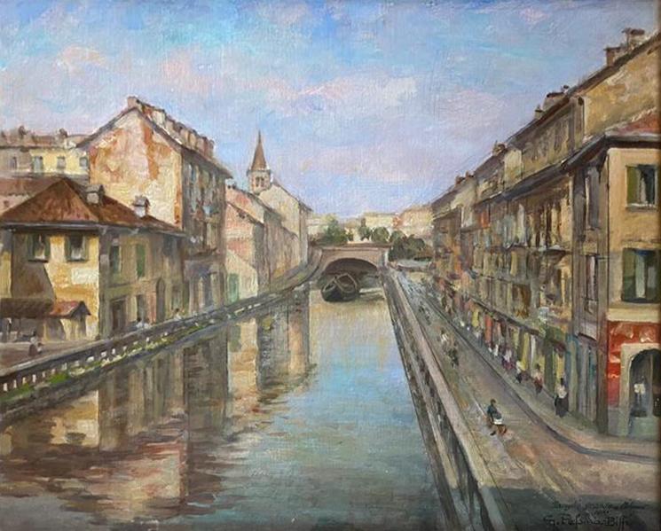 G. Pelsina Biffi – Naviglio grande a Milano