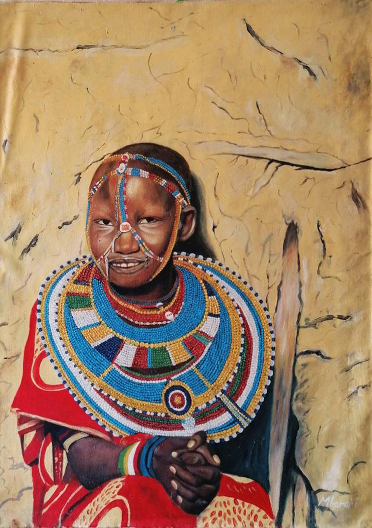Mbarakj – Donna masai con perline
