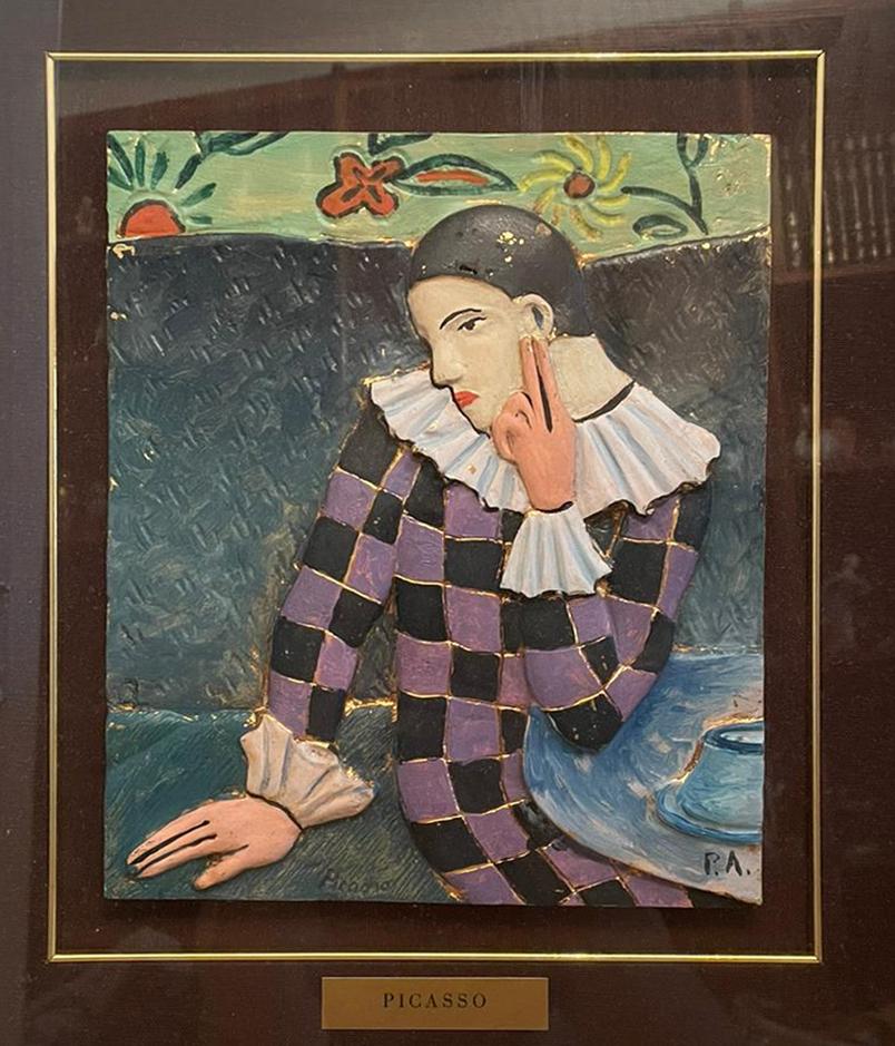 Da Pablo Picasso – Arlecchino pensoso