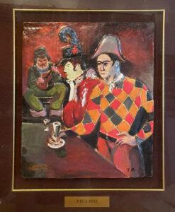 Da Pablo Picasso – Arlecchino con bicchiere