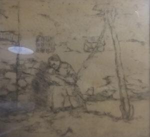 Lorenzo Gigli – Mamma con figlio, paesaggio agreste